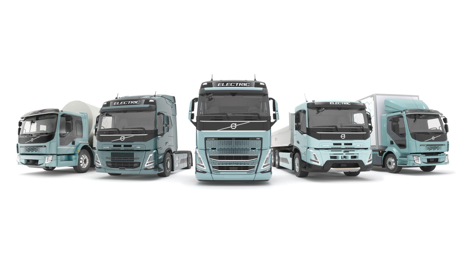 Volvo presenterar komplett program med eldrivna lastbilar