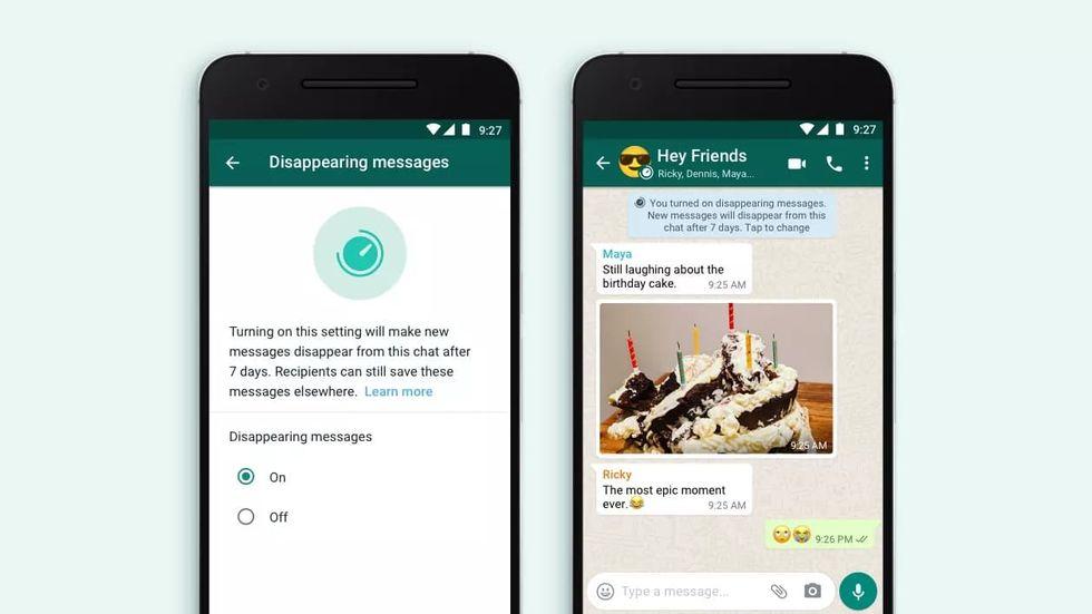Nu kommer försvinnande meddelanden till WhatsApp