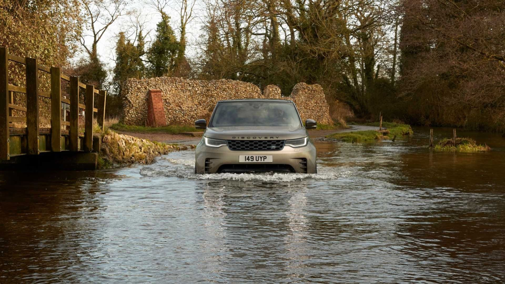 Land Rover lyfter Discovery