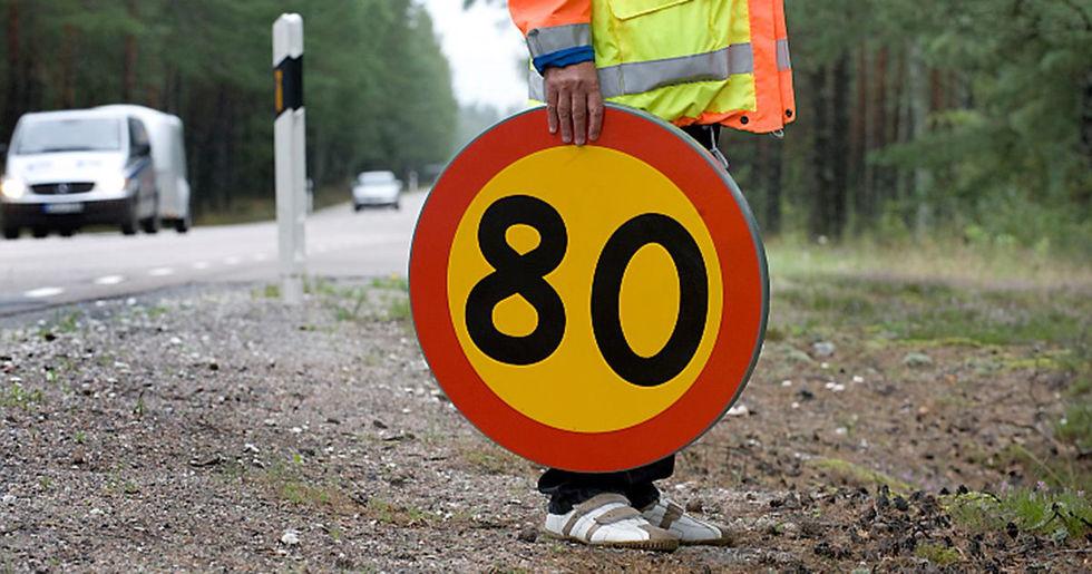 121 mil svensk väg får sänkt hastighet