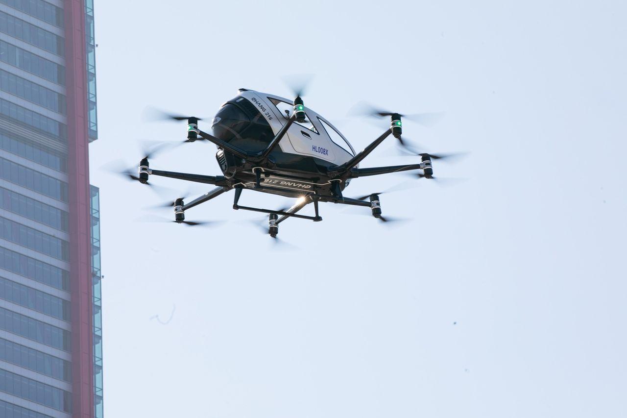 EHangs passagerardrönare har testats i Sydkorea
