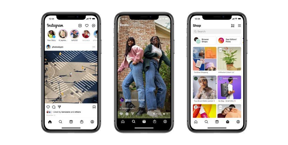 Instagram får ny design