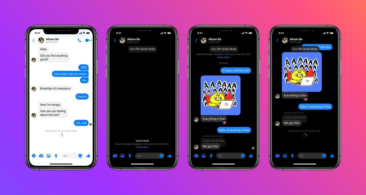 Facebook Messenger får försvinnande meddelanden