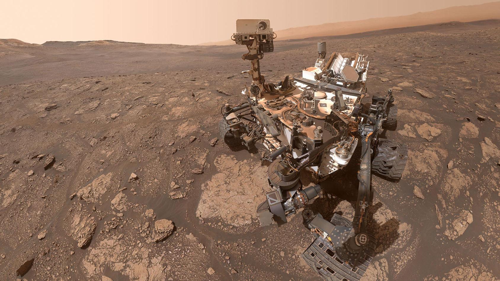 Curiosity har skickat hem en ny selfie