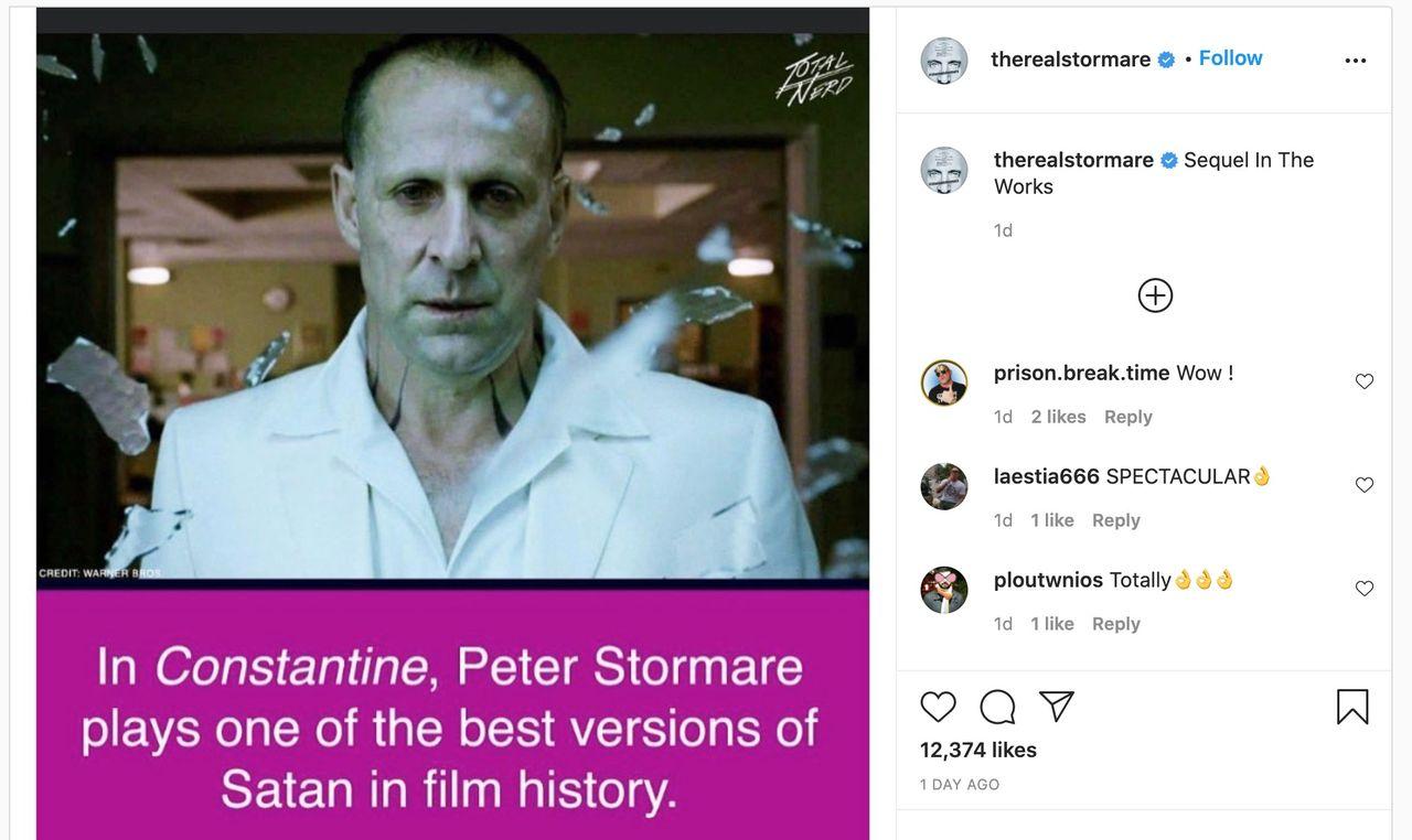 Peter Stormare verkar bekräfta Constantine 2