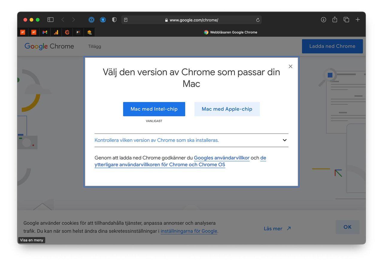 Chrome finns nu för Apple M1