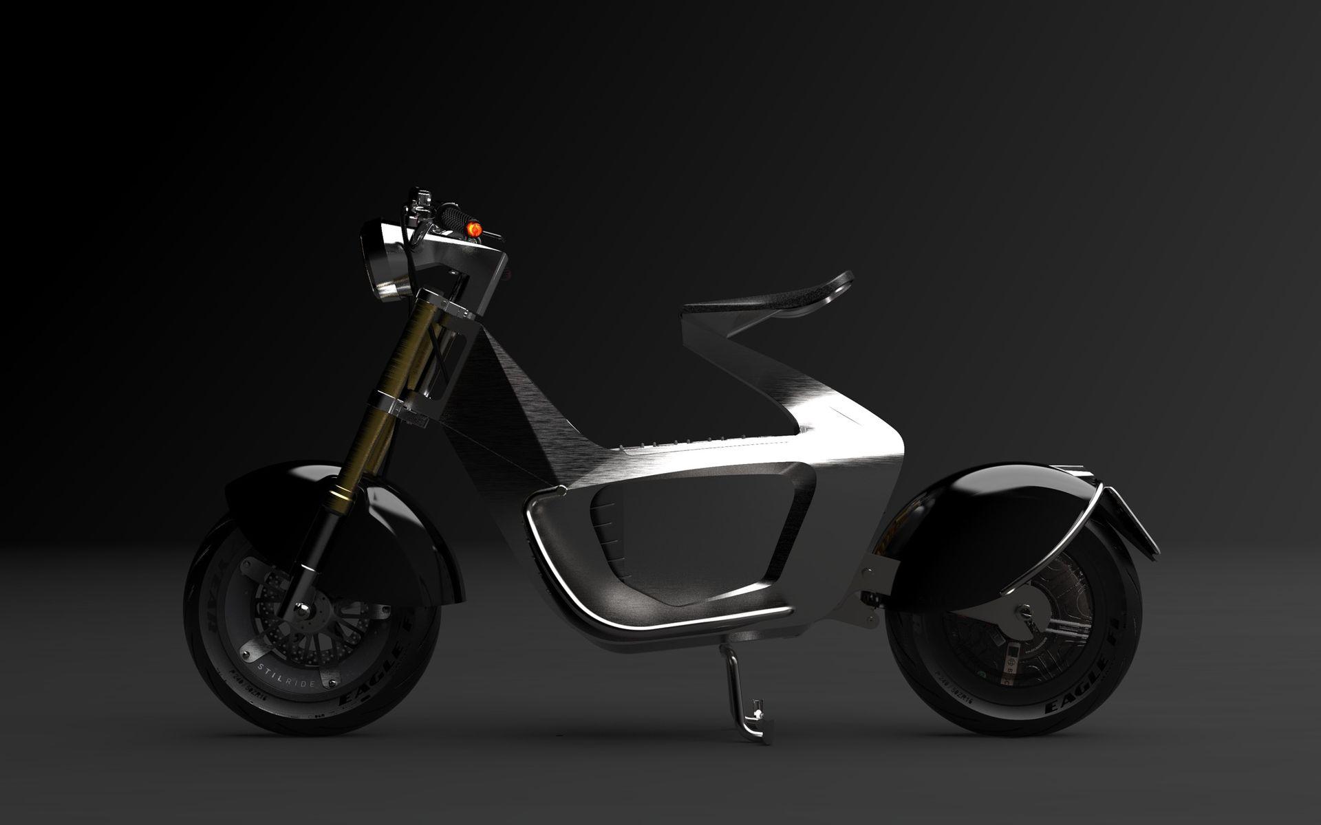 Svensk scooter i stål-origami