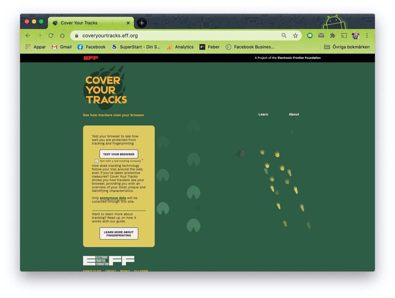 EFF släpper tjänsten Cover Your Tracks