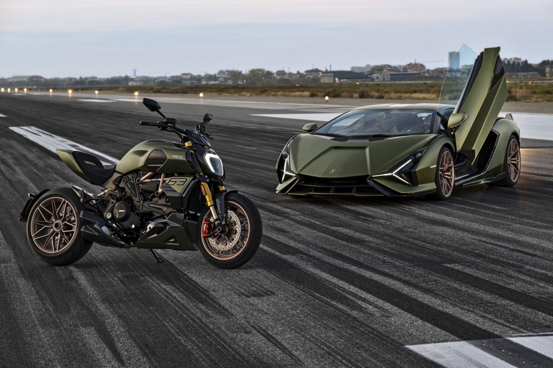 Ducati Diavel inspirerad av Lamborghini Sián FKP 37