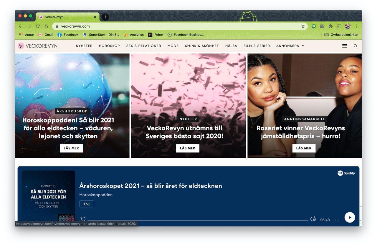 Veckorevyn.com utsedd till Sveriges bästa sajt i Topp100