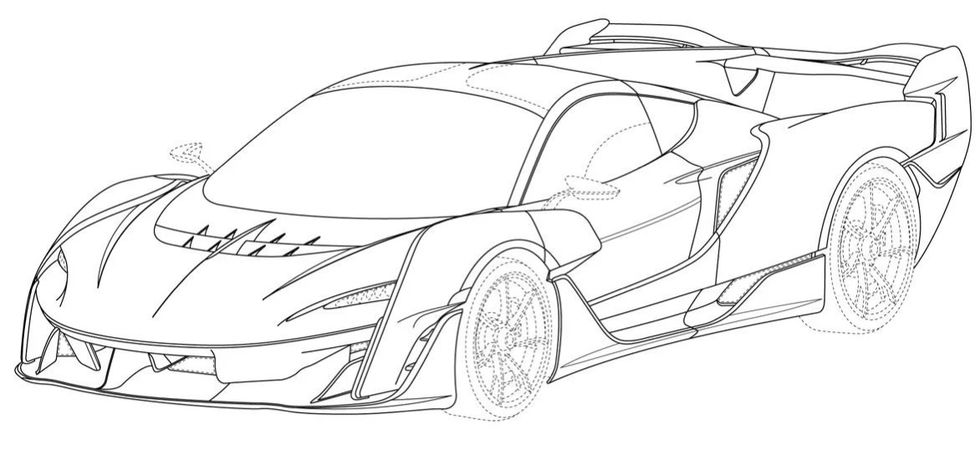 Patentritningar avslöjar McLaren Sabre