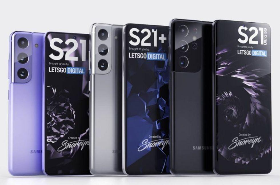 Nya läckta bilder visar hela Samsung Galaxy S21-familjen
