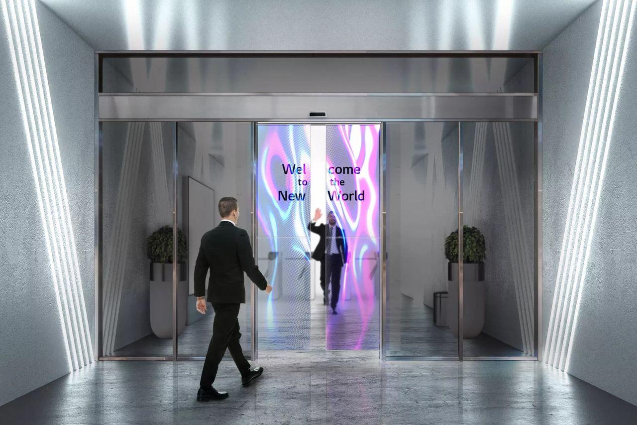 LG och Assa Abloy gör transparenta skärmar till dörrar