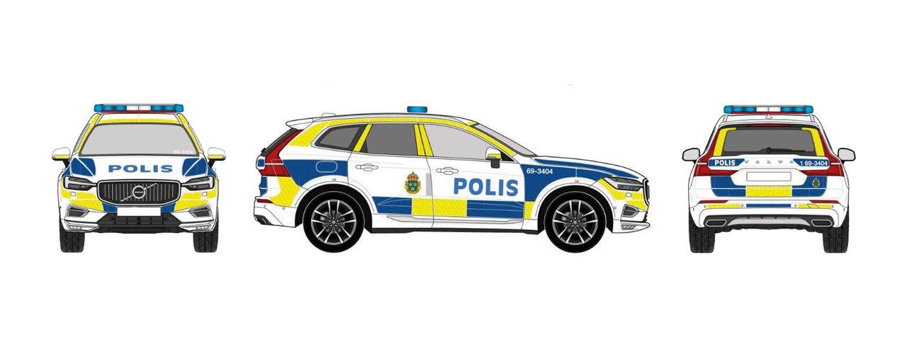 Polisens nya polisbilar kommer se allt