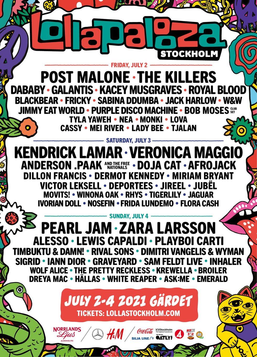 Lollapalooza presenterar artisterna för 2021