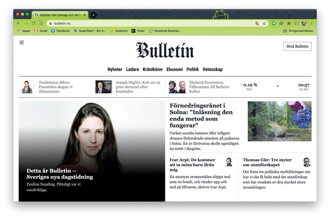 Nu lanseras Bulletin