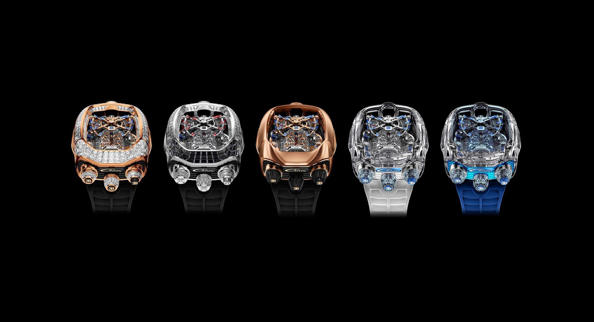 Nya versioner av Bugatti Chiron-klockan