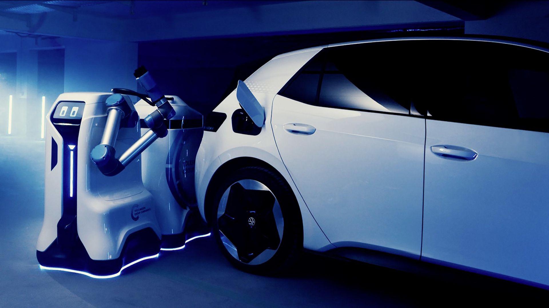 Volkswagen visar mer av den automatiska laddroboten