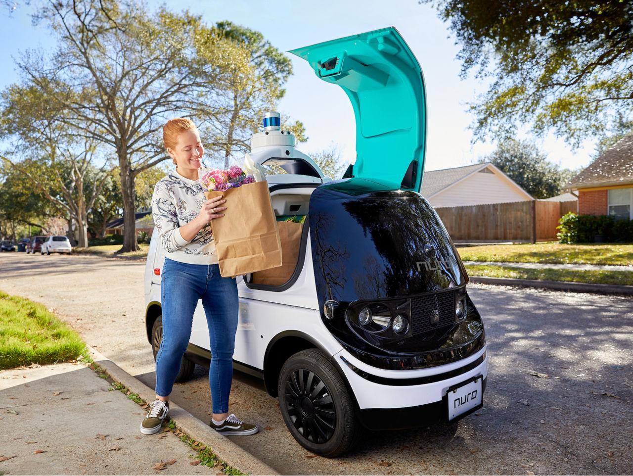 Nu kan självkörande bilar leverera varor i Kalifornien