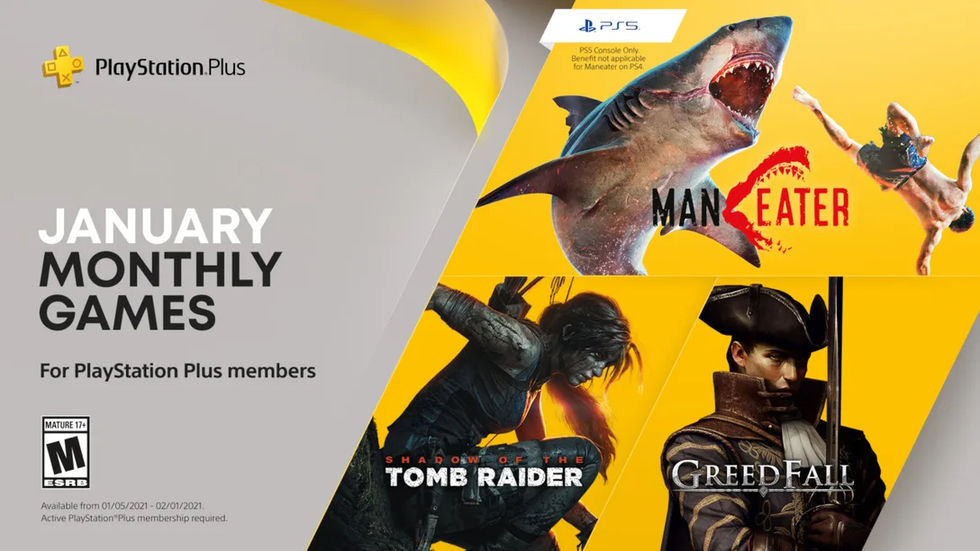 Maneater och Tomb Raider till PlayStation Plus
