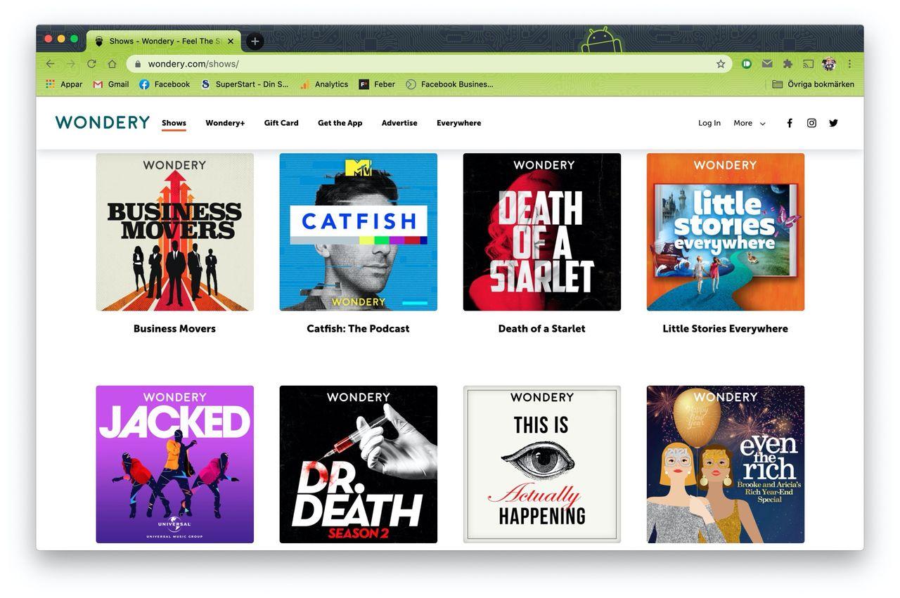 Amazon köper podcastnätverket Wondery