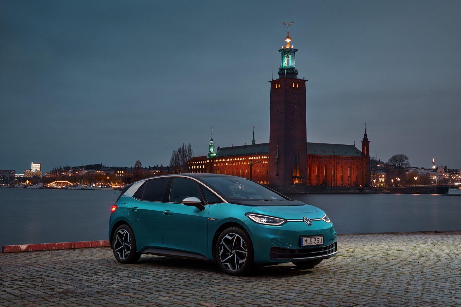 Volkswagen ID.3 blev Sveriges mest sålda elbil 2020