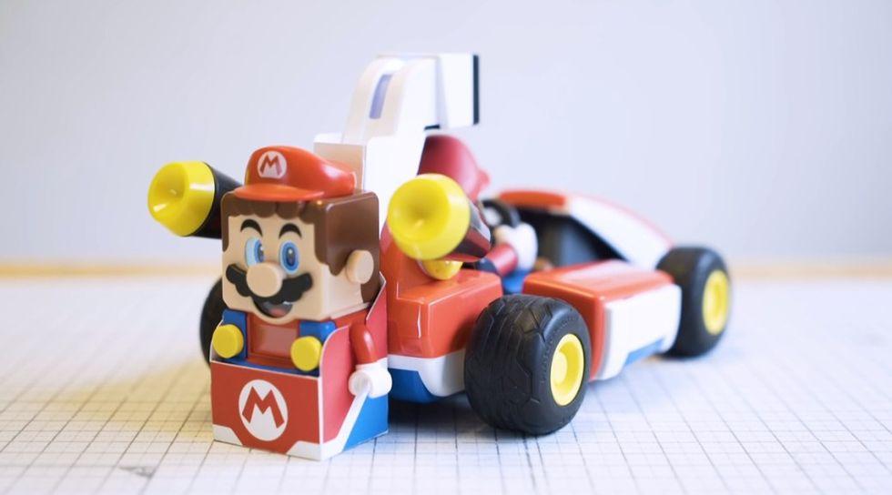 Det går att kombinera Mario Kart Live med Lego Super Mario