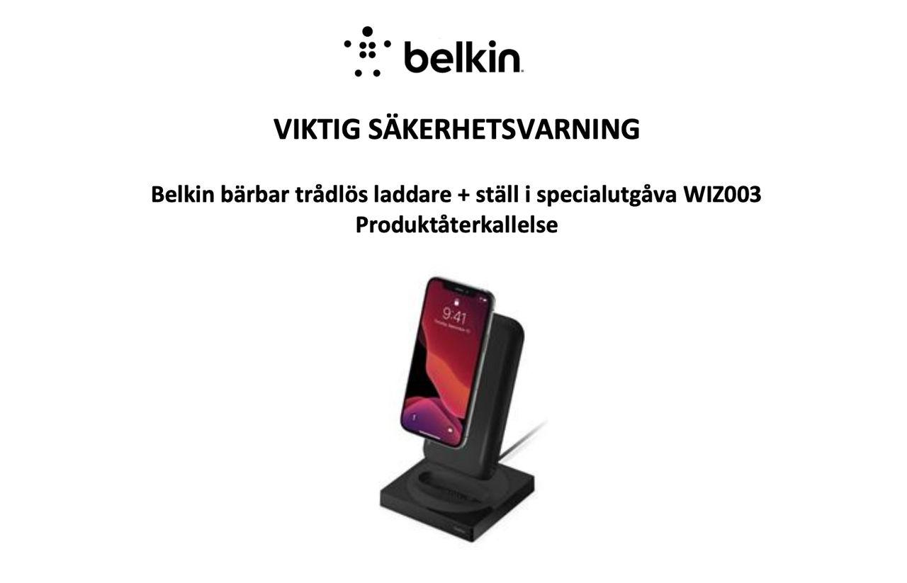 Belkin återkallar trådlös batteriladdare till iPhone