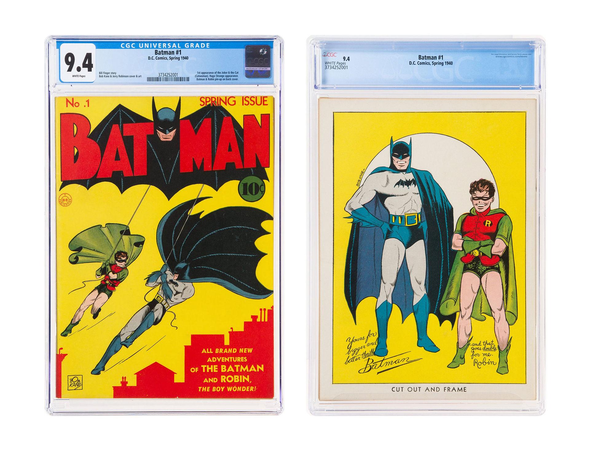 Första numret av Batman såld för 2,2 miljoner dollar