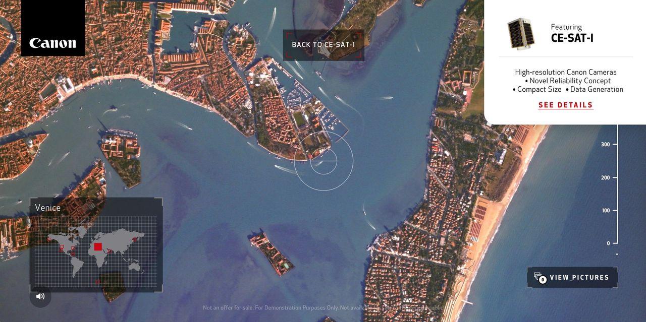 Canon lanserar interaktiv sajt för sin CE-SAT-1-satellit