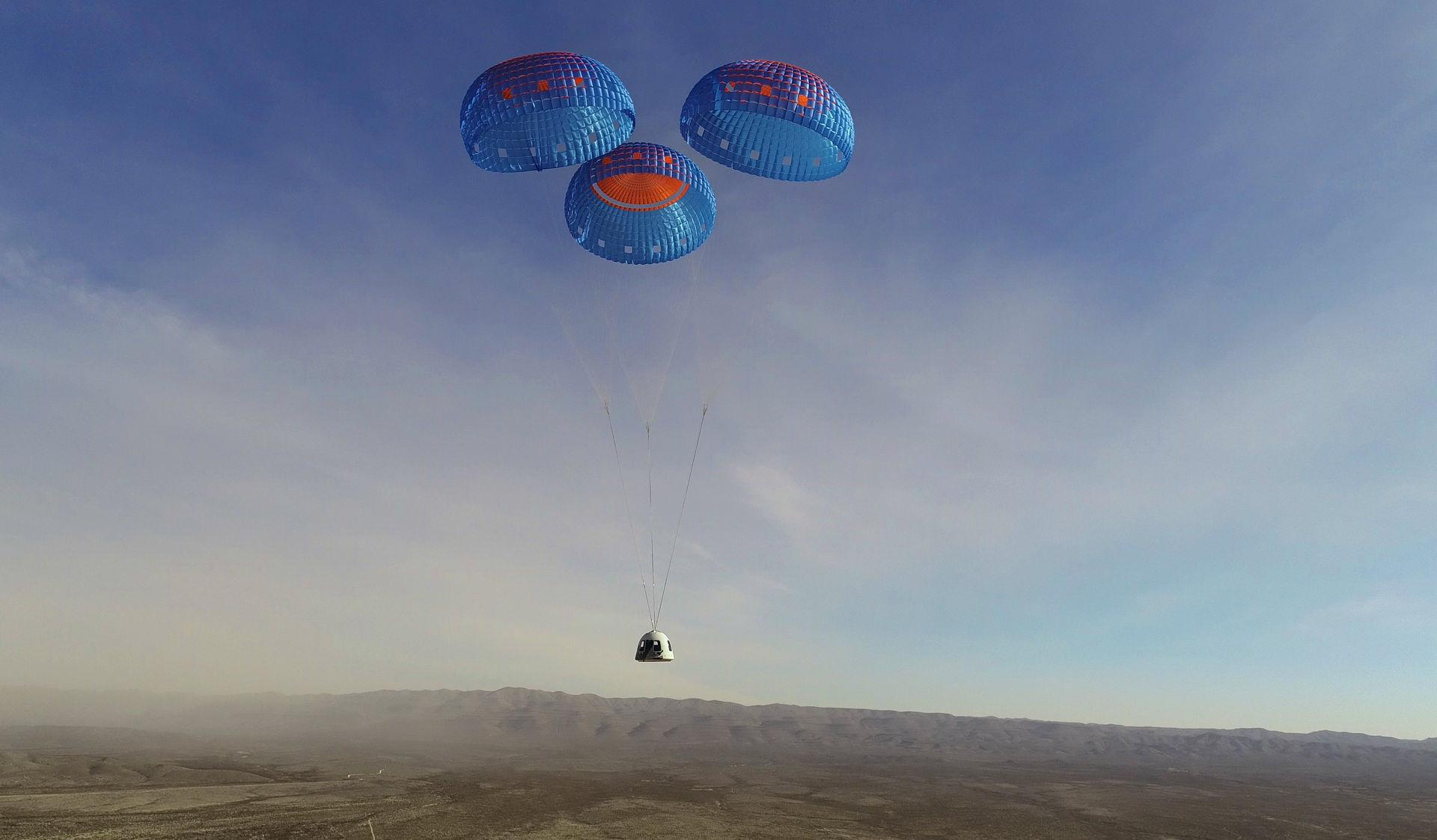 Blue Origin har testat sin nya passagerarkapsel