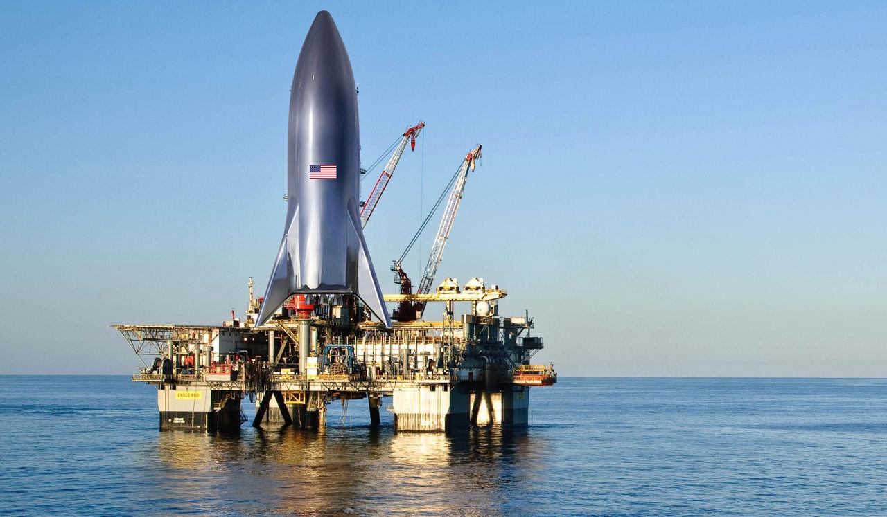 SpaceX har köpt två oljeplattformar