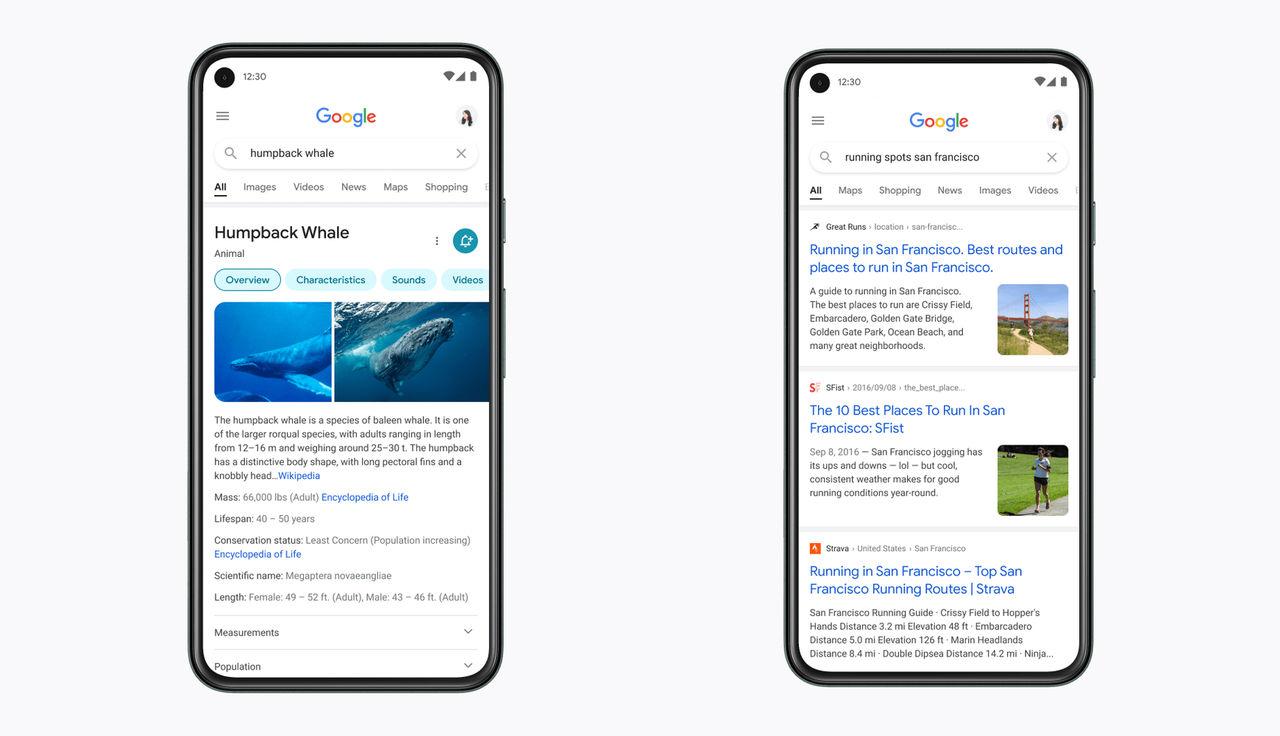 Google sök får ny design på mobilen