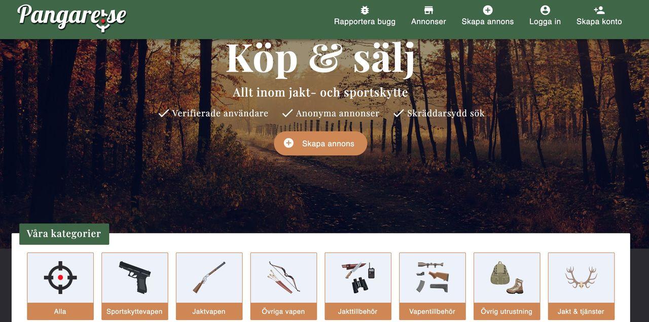 Ny svensk plattform för jakt- och sportskytteartiklar