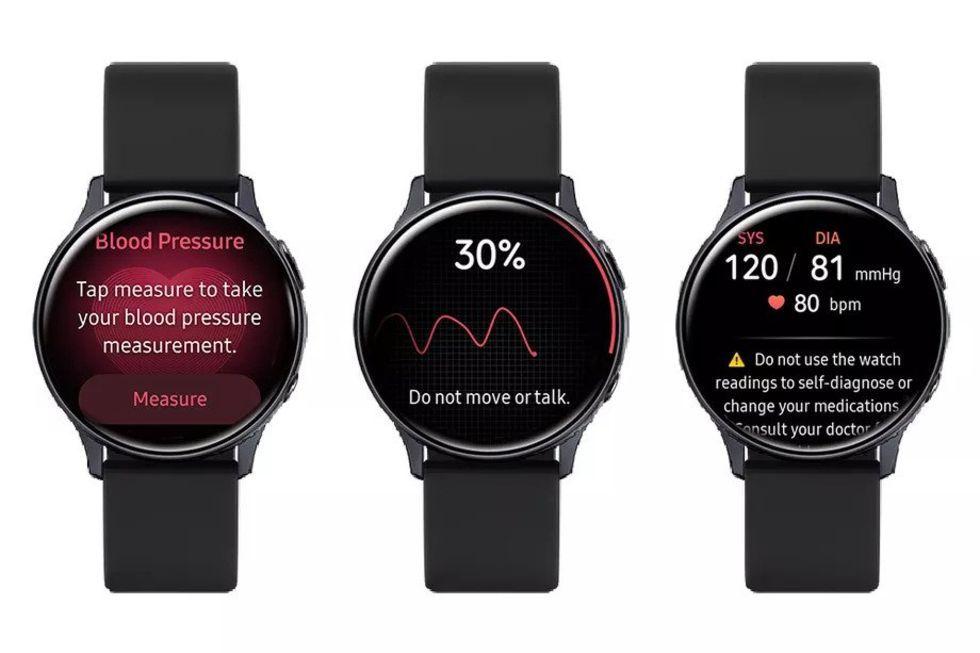 EKG och blodtrycksmätning i Samsungs klockor från februari