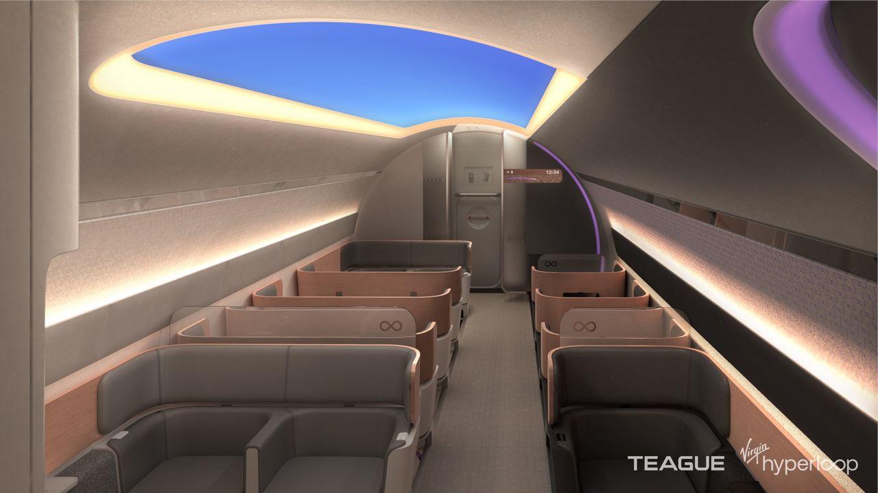 Virgin Hyperloop visar upp designvision för Hyperloop-poddar