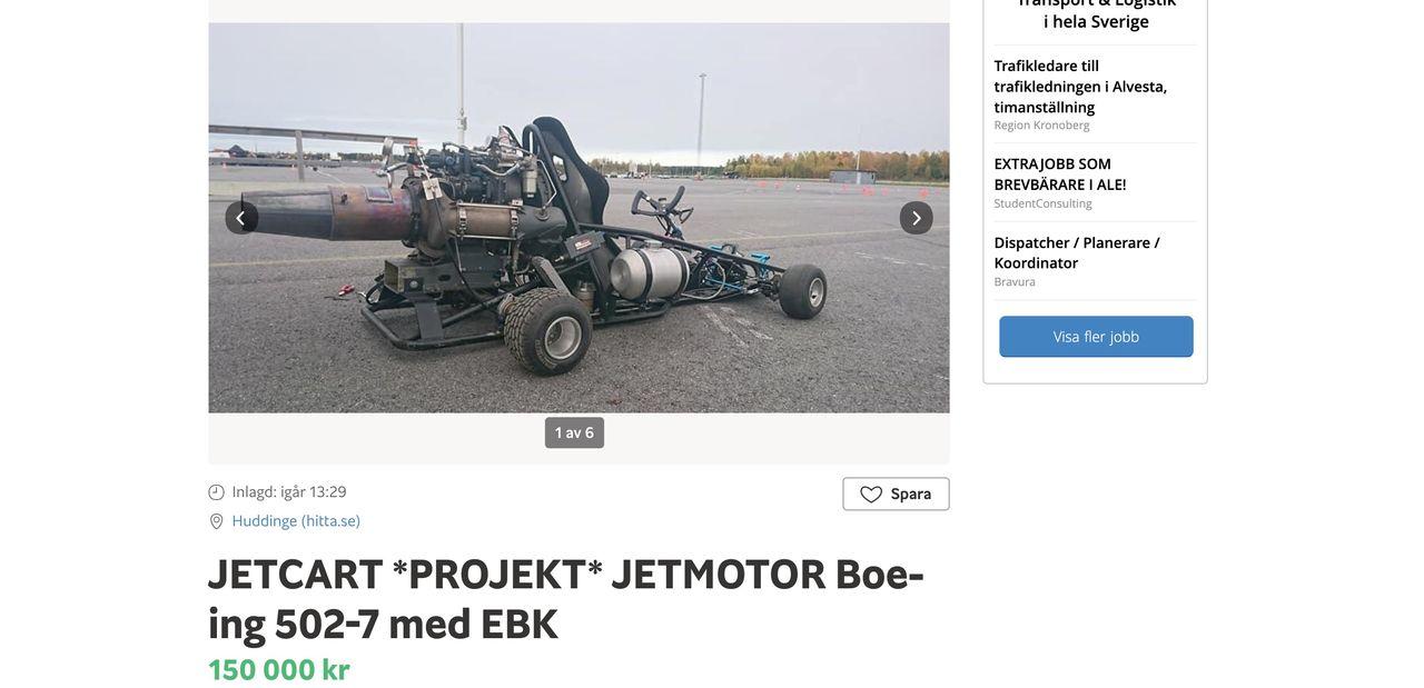 Köp en gokart med jetmotor