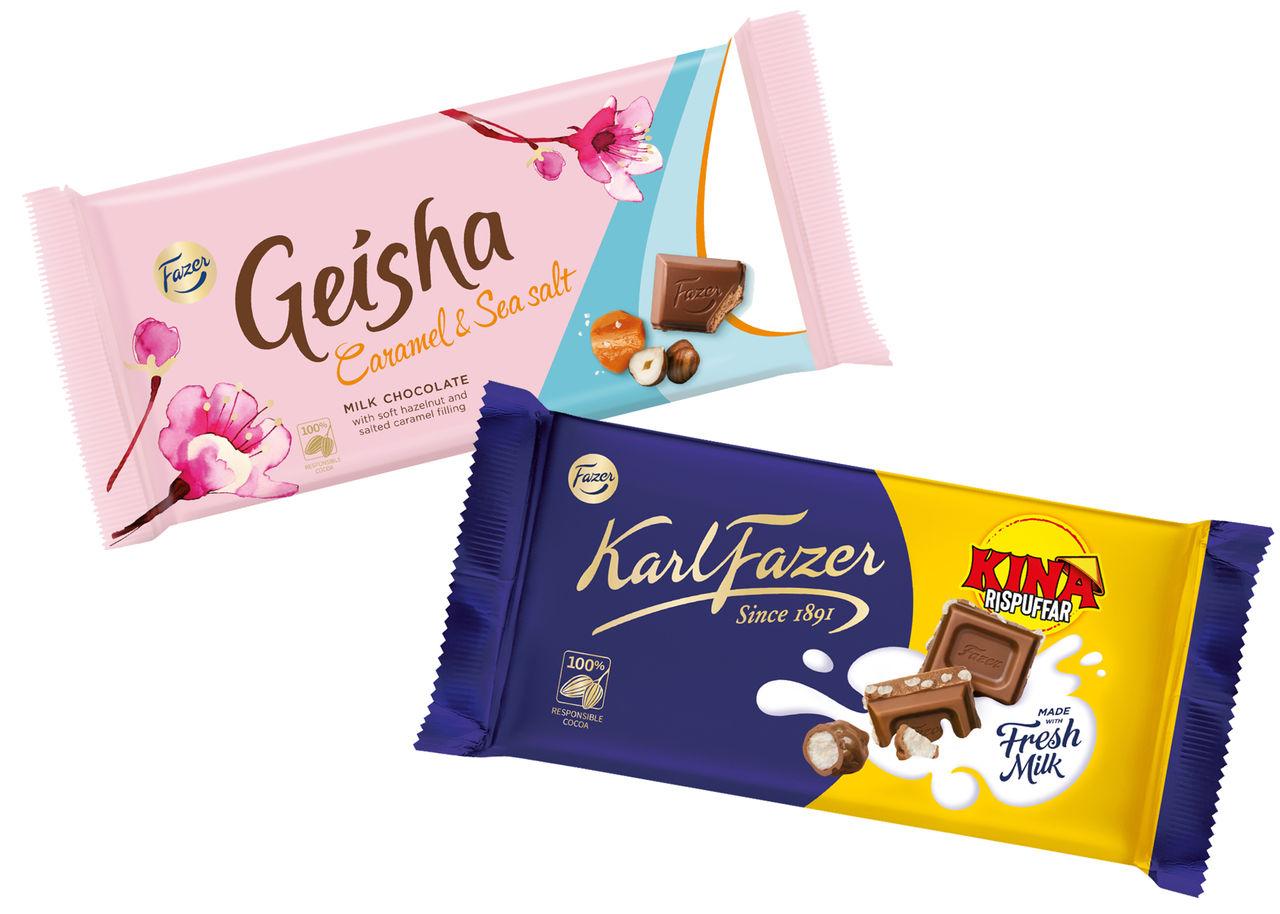 Nya chokladkakor från Fazer