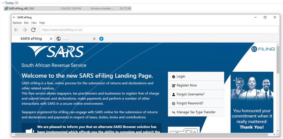 Sydafrikas skattemyndighet släpper egen webbläsare