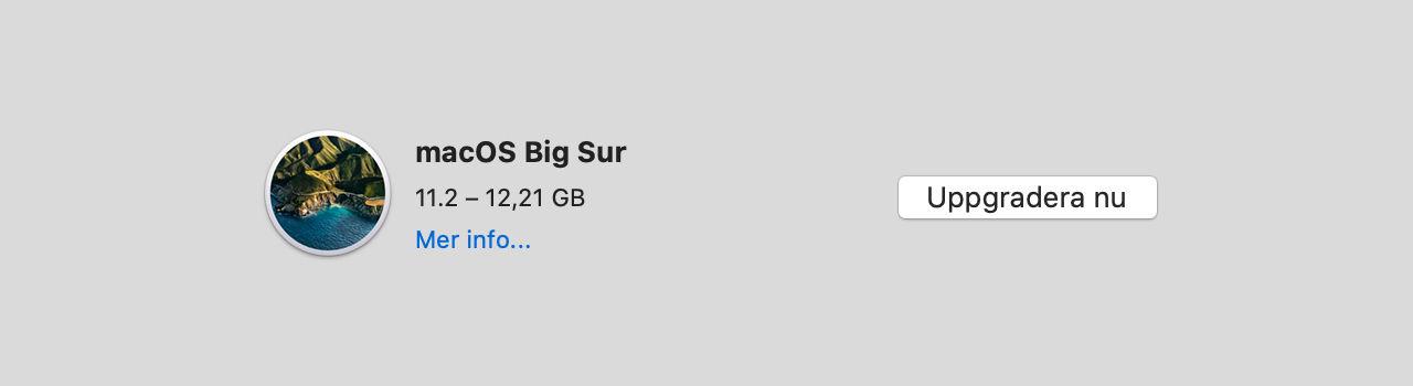 Apple har börjat rulla ut macOS Big Sur 11.2