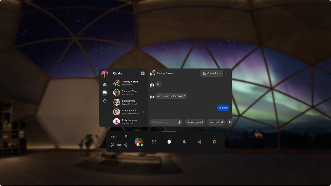 Facebook Messenger ute nu till Oculus Quest