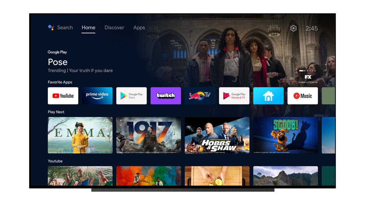 Google uppdaterar Android TV med nytt gränssnitt