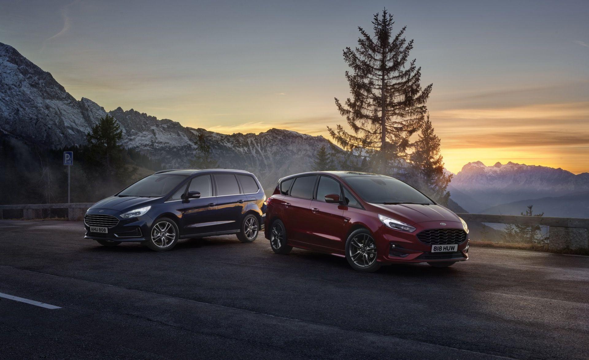 Ford S-Max och Galaxy nu även som hybrider