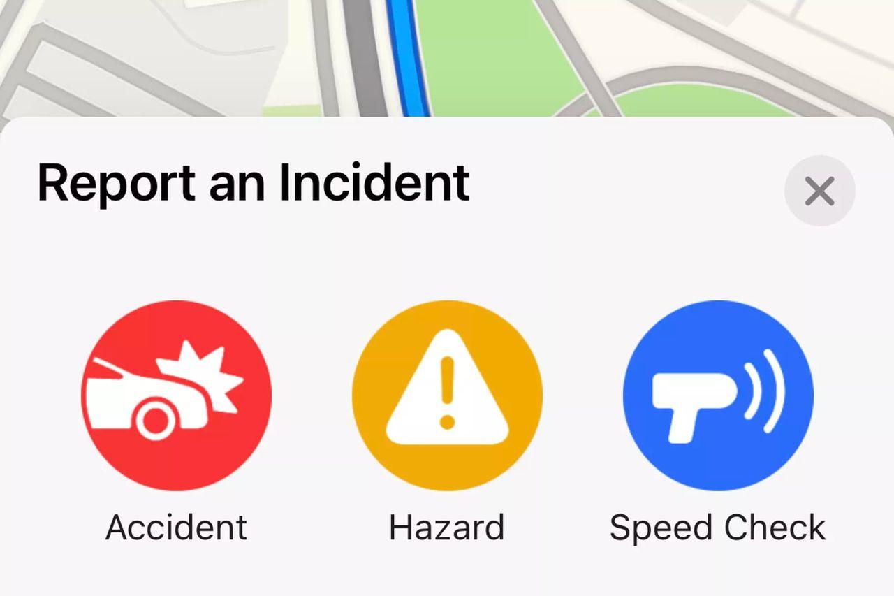 Snart kan man rapportera in olyckor och annat i Apple Maps