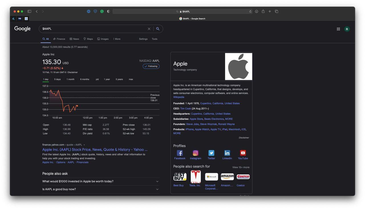Google testar mörkerläge för webben