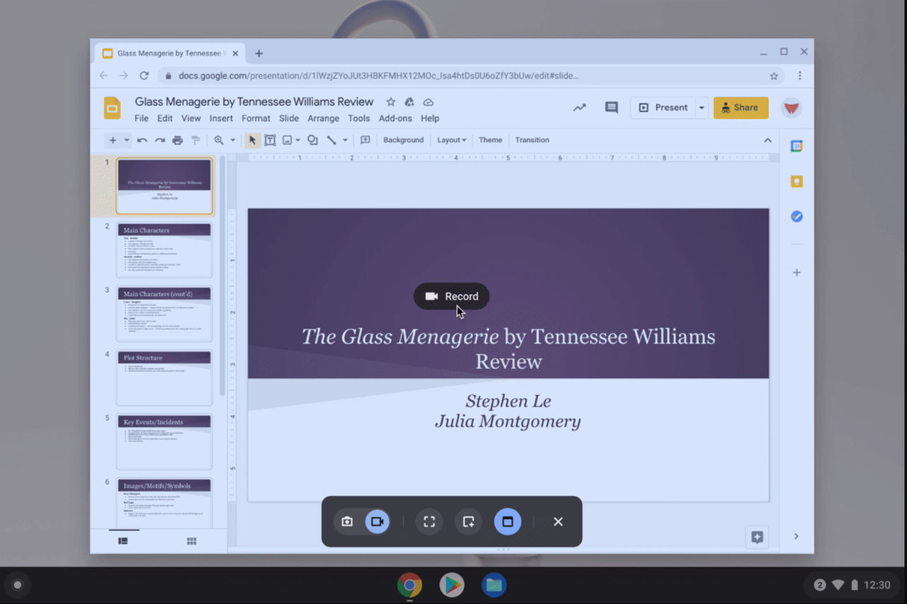 Chrome OS får inbyggd skärminspelare