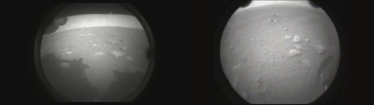 Perseverances första bilder från Mars