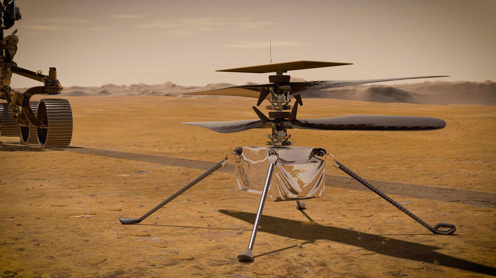 NASA:s Mars-helikopter har hört av sig hem