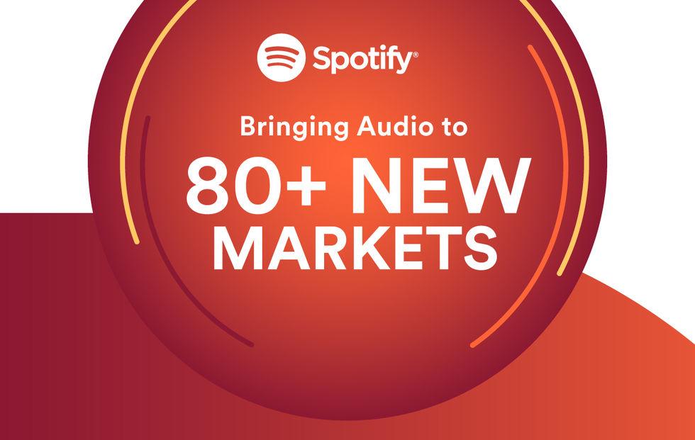 Spotify lanseras på över 80 nya marknader