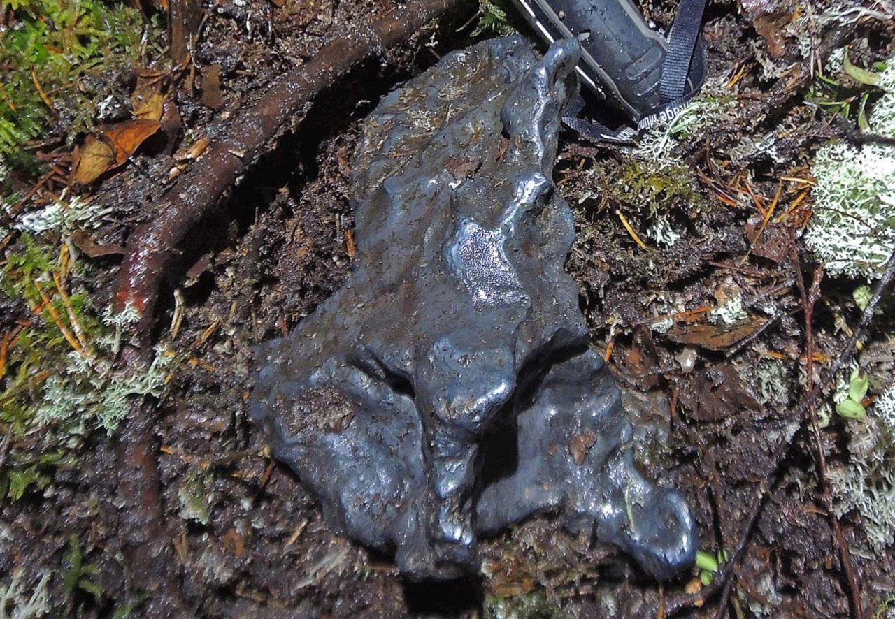 Del av meteoriten som slog ner i Sverige förra året upphittad